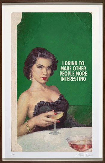 I Drink To Make Other People More Interesting by The Connor Brothers - Framed Giclee Limited Edition